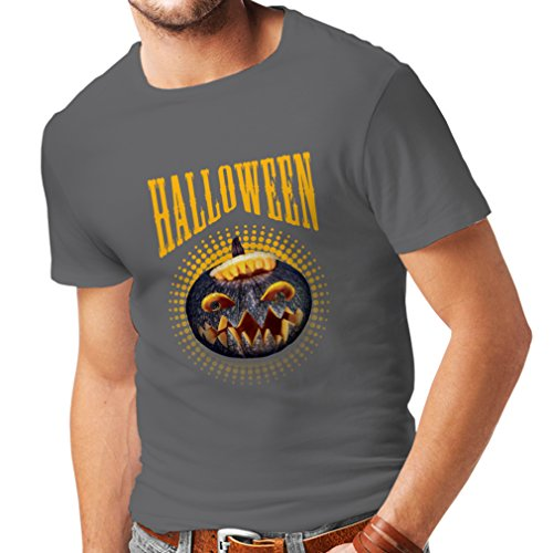 lepni.me T Shirts For Men Halloween Pumpkin - Clever Party Costume Ideas 2017 (XXX-Large Graphite Multi Color) -