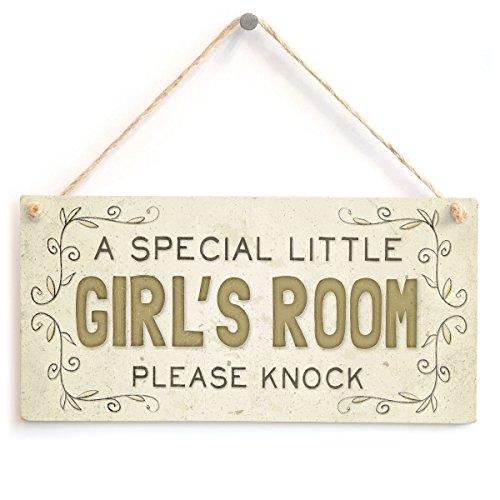 Meijiafei A Special Little Girl's Room Please Knock - Kid's Room Door Sign 10