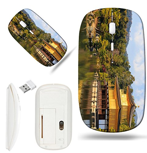 Luxlady Wireless Mouse White Base Travel 2.4G Wireless Mice with USB Receiver, 1000 DPI for notebook, pc, laptop, macdesign IMAGE ID: 35892144 Kinkakuji Golden Pavilion is a Zen temple in northern Kyo