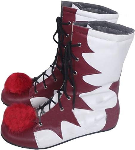 HPY Clown Pennywise Zapatos de Cosplay IT Botas PU Cosplay Disfraz ...