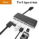 USB C Hub ANEWISH USB C Adapter/Charger to USB 3.1 Type C Hub To HDMI Adapter Charging Connecting USB SD/TF Card Reader For MacBook Pro/Google Pixel Dell XPS13 Nexus 5X HP17 All USB-C Devices to HDTV