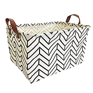 Storage Bin, Collapsible Canvas Organizer Basket for Laundry Hamper, Toy Bins,Gift Baskets, Bedroom, Clothes, Perfect for Kid Rooms Baby Nursery Anchor Hamper