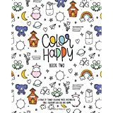 Amazon Com Color Happy Book One A Year Of Themed Coloring Pages Designed By Tara L Nearents Aka Rad And Happy 9781686101205 Nearents Tara Larson Books