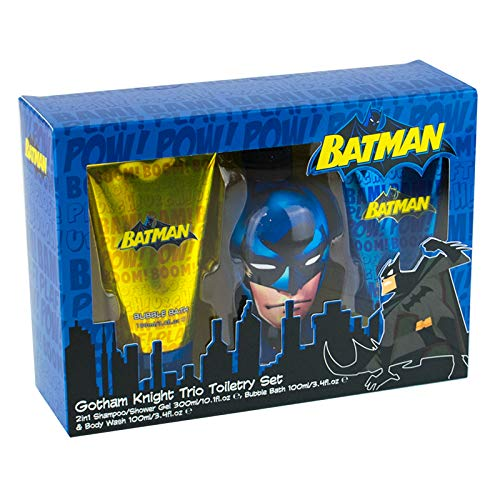 DC Batman Gotham Knight Trio Toiletry Shampoo Sower Gel Bubble Bath Gift Set