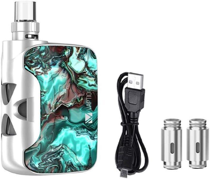 Vaptio Kit de cigarrillo electrónico original Fusion SP vape con batería incorporada de 1500 mAh 2 ml Potencia de salida del ecig del atomizador 50 w Sin E Líquido Sin nicotina (Marina)