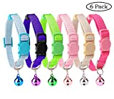6PCS Breakaway Cat Collar Safety with Bell for Kitty