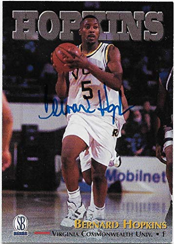 (Bernard Hopkins 1997 The Score Board Personally Autographed Basketball Card (Virginia Commonwealth University) Free Shipping and Tracking)
