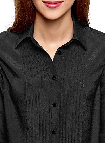 Noir Ample de 2900n de Surpiq res Poitrine Collection Dcor oodji Chemisier Femme qFvxp1wFg4