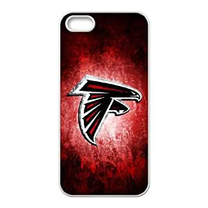 Atlanta Falcons Team Logo iPhone 5 5s Cell Phone Case White persent zhm004_8502803