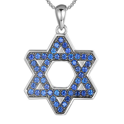 (Jewish Necklace Jewelry For Women Men Protection Stainless Steel Star Of David Pendant Hebrew Judaica Israeli)