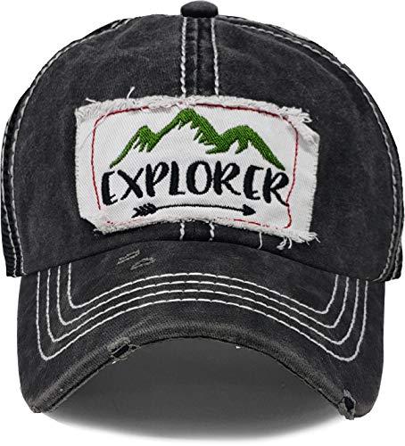 BH-200-EXPLORER-P06 Patch Mesh Baseball Hat - Explorer - - Caps Cool Trucker