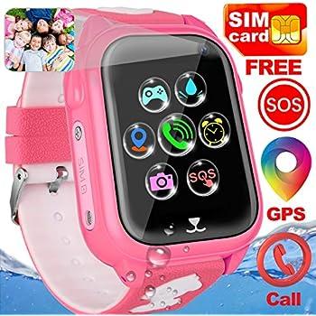 Amazon.com: Kids Smart Watch Phone - Kids GPS Tracker ...