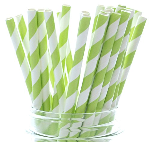 [Lime Green Dazzling Cola Straws - 25 Pack – Pretty in Summer Beverages Like Juice, Lemonade and] (Cute Halloween Decorated Cupcakes)
