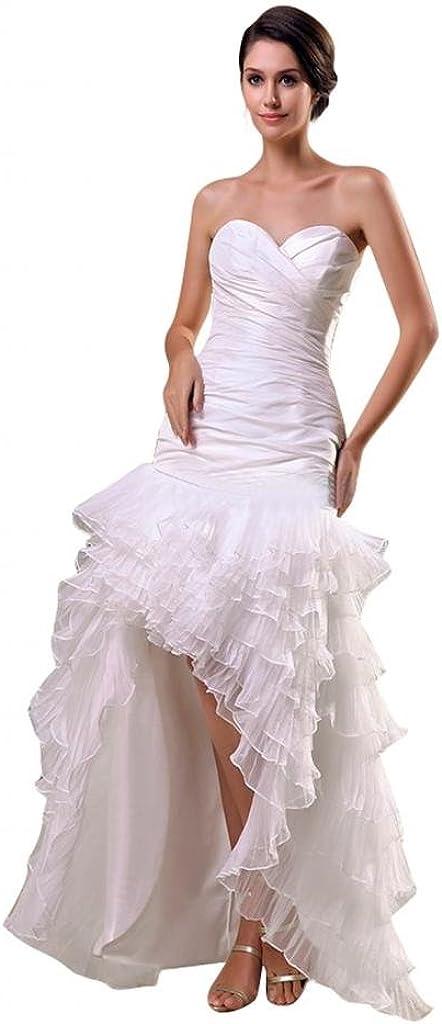 Scarlett Womens Strapless Organza Cocktail Wedding Bridal Dress Ivory