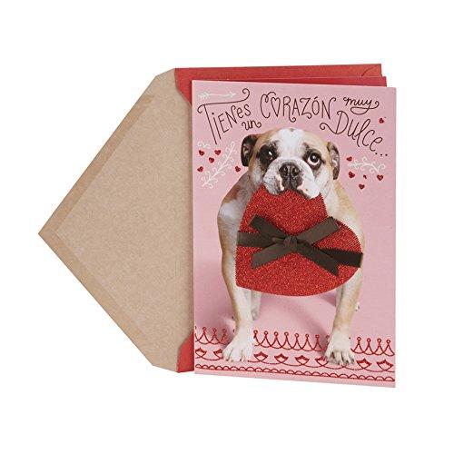 Hallmark Vida Spanish Valentine's Day Greeting Card (Girlfriend Dogs)