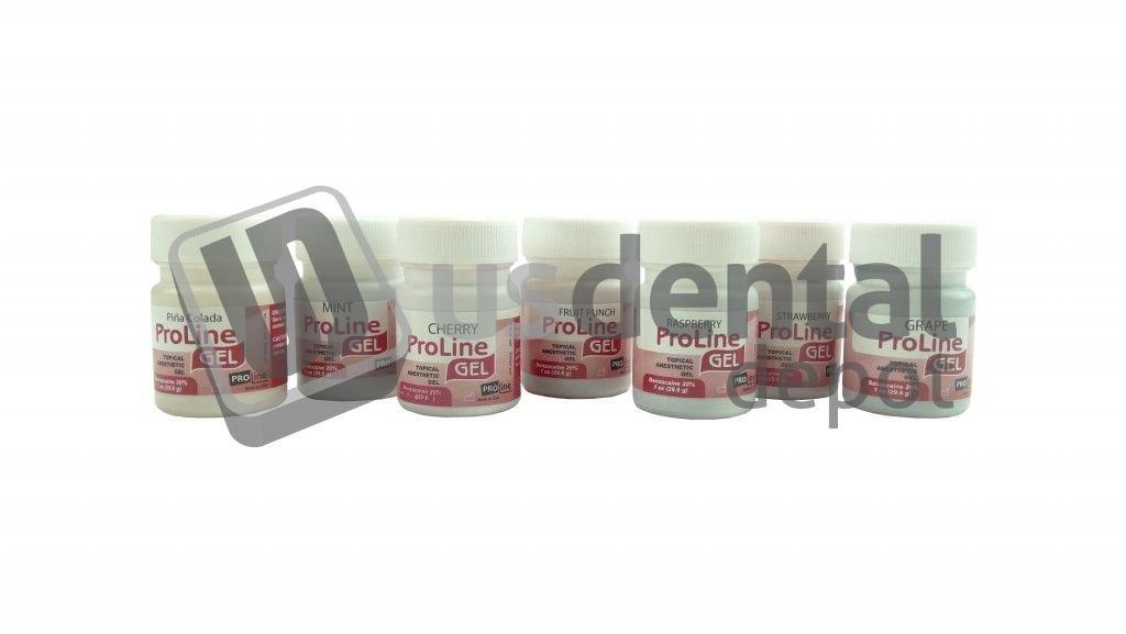Pro-Line-Gel 1 oz. Bottle Mint (topical anesthetic gel) - PROLINE Topical anesthetic - anestesia topica - Pro-Line-Gel anestesia topica 1 oz. Botella Menta 018-018 DENMED Wholesale