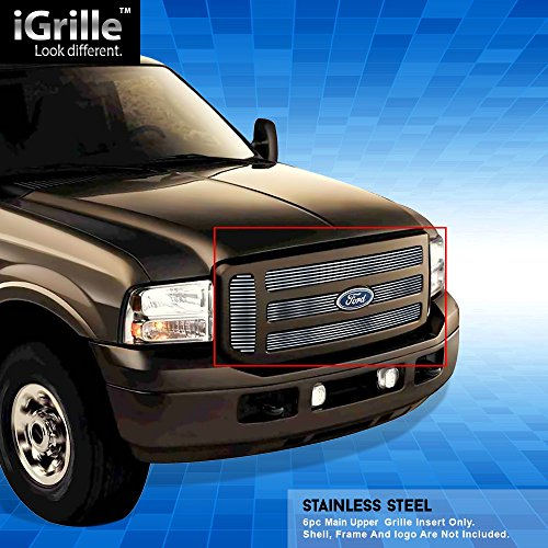 Ford F350 Billet Grille - Stainless Steel eGrille Billet Grille Grill For 05-07 Ford F250/F350 Super Duty/Excursion