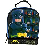 "Lego Batman 9.5"" Dual Compartment Lunch Bag with Cape bonus Detachable Cape"