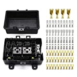 21-Slot Relay fuse Box- relay ATO/ATC fuse holder with Spade Terminals for Automotive trailer and Marine Use