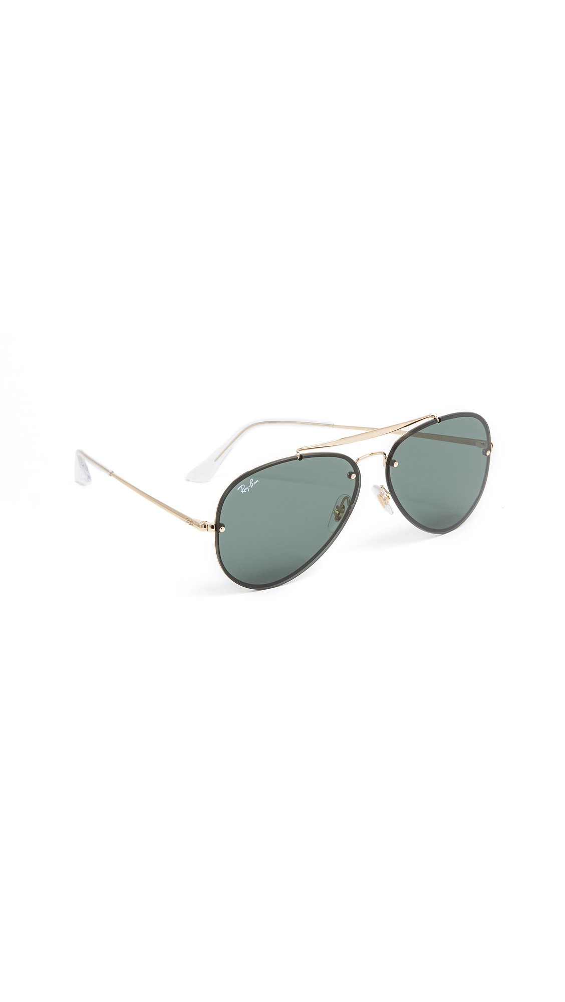 Ray-Ban Blaze Aviator Sunglasses, Gold, 61 mm by Ray-Ban