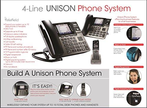 RCA Unison U1000 Dect_6.0 10-Handset 4-Line Landline Telephone