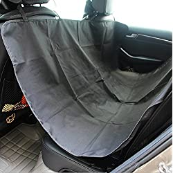 Dog Seat Cover, Waterproof Non-slip Dog Seat Cover for Cars Pet Car Seat Cover Dog Hammock with An Adjustable Pet Dog Car Seat Belt and A Carrying Bag