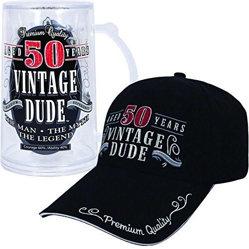 Vintage Dude 50 Hat and Tankard Bundle ()
