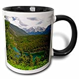 3dRose Danita Delimont - Mountain Lakes - Alpine lake in the Austrian Alps, Austria.-EU03 DFR0008 - David R. Frazier - 11oz Two-Tone Black Mug (mug_73710_4)