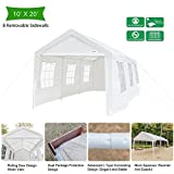 VINGLI Heavy Duty Outdoor Car Park Sun Shelter, Polyester Fabric Cover UV Protection Waterproof,Versatile Garage Vehicle Shelter,Wedding Party Event Tent