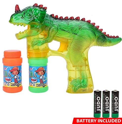 Toytykes Dinosaur Bubble Shooter Gun Material | Comes with LED Flashing Light and Sound | Easy to Play | Promote Creativity and Learning Skills of Kids -