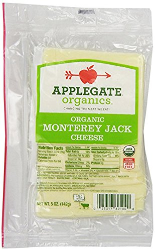 Applegate, Organic Sliced Natural Monterey Jack Cheese , 5oz