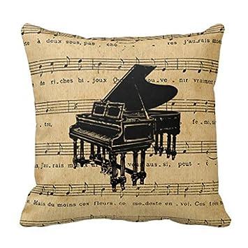 Pianoforte antico francese spartiti federa 45,7 x 45,7 cm: Amazon.it ...