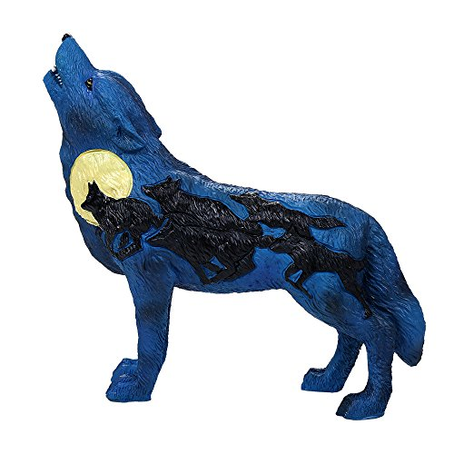 Pacific Giftware The Wolf Spirit Collection Night Rush Wolf Collectible Figurine Howling Wolf 6.25L]()