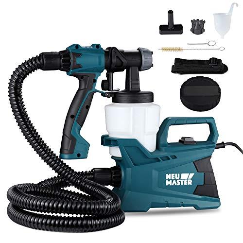 - NEU MASTER N3140 Electric HVLP Spray Gun Power Paint Sprayer with 3 Adjustable Spray Patterns, Adjustable Valve Knob, for Spray Painting & Painting Projects