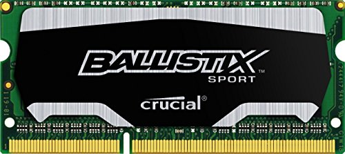Ballistix Sport SODIMM 8GB Kit 4GBx2 DDR3 1600 MT/s PC3-12800 CL9 at 1.35V 204-Pin Memory BLS2K4G3N169ES4