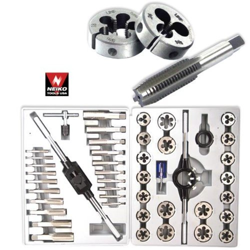 Pro-Grade 45-Piece Large-Diameter Alloy Steel Tap & Die Tool Set - SAE