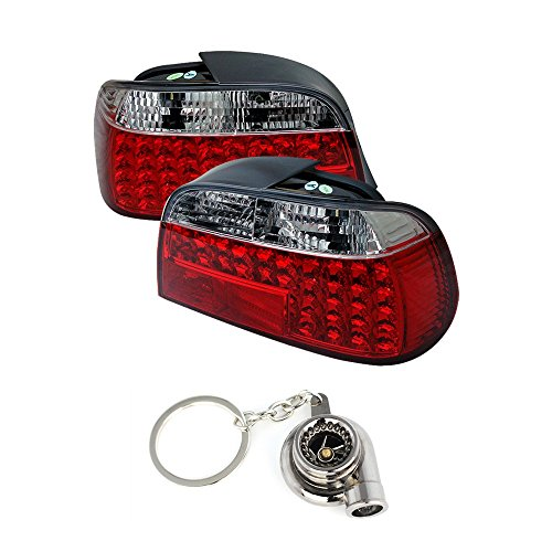 BMW E38 7-Series LED Tail Lights Red And Clear Lens+Free Gift Key Chain Spinning Turbo Bearing