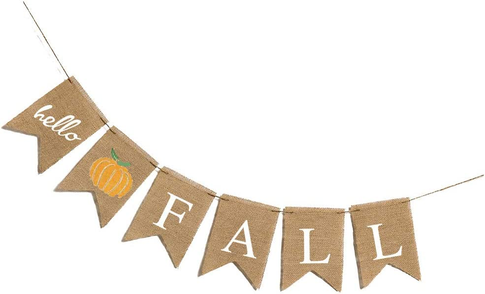 Happy Thanksgiving Banner Party Hanging Banner Burlap Banner Autumn Harvest Party Home Decoration