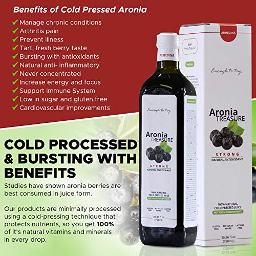 Antioxidant Shot ([Aronia Treasure] 100% Siberian aronia berry shots | Antioxidant shots for sports recovery, heart health, immunity| Manage blood pressure, diabetes, inflammation | Gluten free superfood juice [2 Pack])