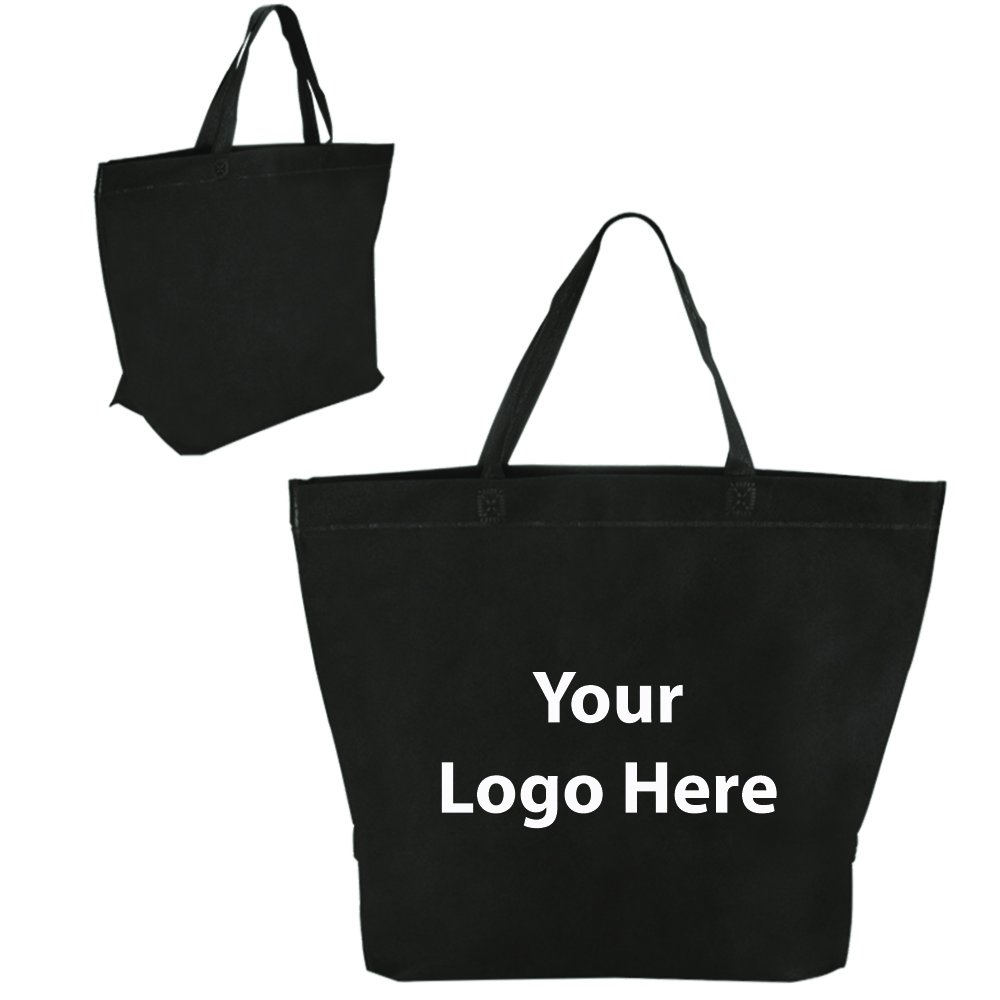 Two Tone Heat Sealed Shopper Tote - 150 Quantity - $1.85 Each - PROMOTIONAL PRODUCT / BULK / BRANDED with YOUR LOGO / CUSTOMIZED