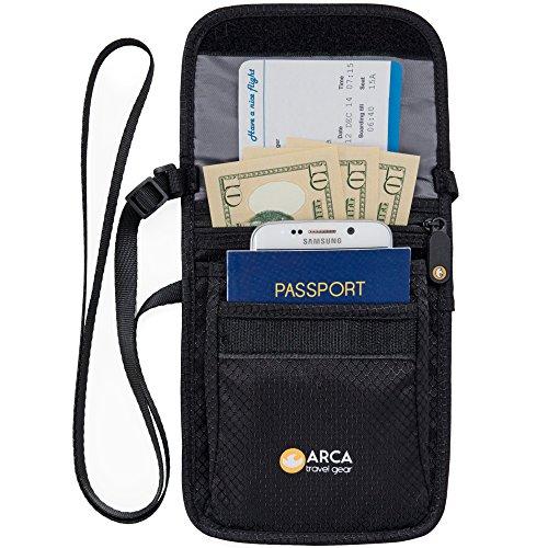 Arca Travel Gear PASSPORT HOLDER/NECK WALLET