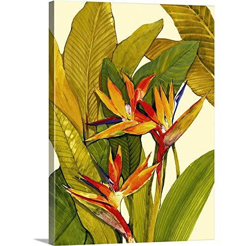 Tropical Bird of Paradise Canvas Wall Art Print, 18 x24 x1.25