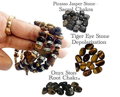 Tiger Eye Chakra Bracelet with Jewelry Box (Pure Real Crystals and Healing Stones) Tree of Life Bracelet Non Breakable and Adjustable to Fit Any Wrist (Tiger Eye) Reiki Yoga Mala Beads Bracelet