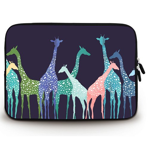 (Wondertify 13-13.3 Inch Laptop Sleeve Briefcase Case with Giraffe Waterproof Neoprene Protective Bag Carrying Case for 13