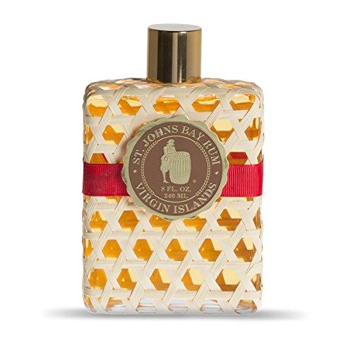 St Johns Bay Rum Cologne/Aftershave Lotion 8 Oz Splash VIP Sized. The Best Smelling Fragrance for Men. Handcrafted. Bay Leaf Oils, Premium Spices in U.S.V.I. Popular Fragrance for Guys for 70 Years.