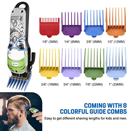 Professional Electric Cordless Hair Clipper for Kids/Men Hair Cutting Kit Set Mens Hair Trimmer Beard Trimmer Hair Cutting & Grooming Kit Rechargeable with Guide Combs Home Barber