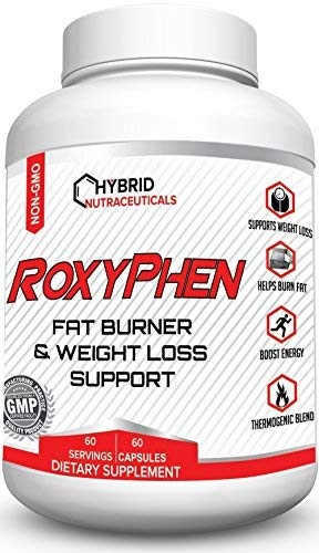 Hoodia Concentrate - RoxyPhen Fat Burning Pills, Thermogenic Fat Burner Pills with Green Tea, Glucomannan, Maca Root, Weight Loss Pills, Appetite Suppressant, Energy, Metabolism Booster, Fat Blocker, Carb Blocker