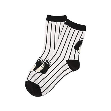 6a5e53b147c NNGUBIU Fashion Unisex Japan Style Cool Funny Head Patterned Short Socks  Funny Hipster Art Ankle Black