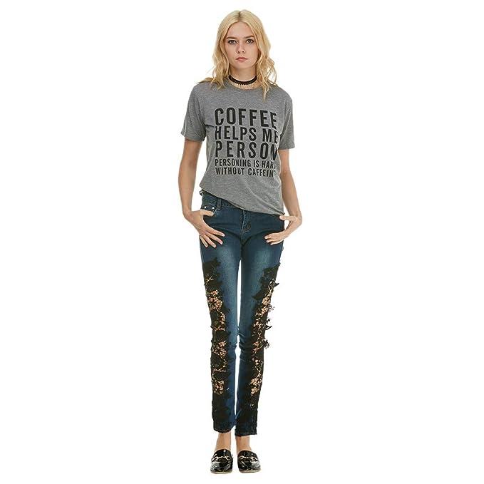 Push Pantalones Jeans Elástico Leggings Mujer Up Flacos Vaqueros ZHYTqpwU