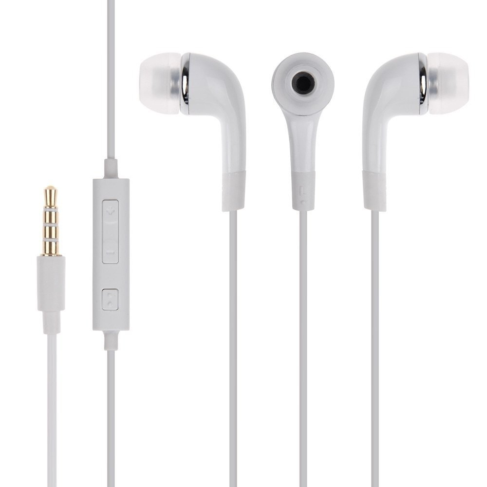 ShopsNice In-Ear Headphone for Samsung Galaxy Note N7000 / Samsung Note N 7000 Earphones Original Like Headsets | High Quality Best Performance Handsfree With Mic, Calling, Music, 3.5mm Jack - White
